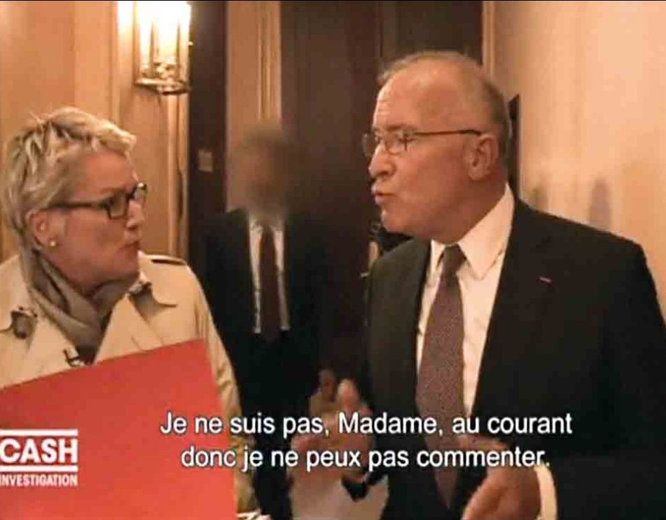 Cash Investigation : Elise Lucet interpelle le patron de Huawei France. CAPTURE D'ÉCRAN FRANCE 2